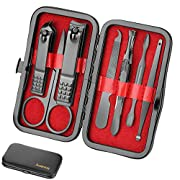 Manicure Set Personal care – Nail Clipper Kit Luxury Manicure 8 In 1 Professional Pedicure Set Grooming kit Gift for Men…