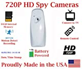 SecureGuard 30 Day Battery Powered 720P Air Freshener Spy Camera Hidden Covert Nanny Cam Spy Gadget (White)