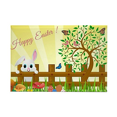 CafePress Happy Easter Bunny Rectangle Magnet, 2