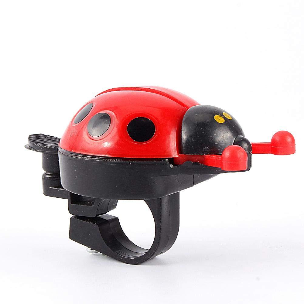 VGEBY1 Campana de Bicicleta, Sonido Claro Ruidoso Largo Ladybug Bicycle Bell para Mountain Bike Kids Bike Kids Gift Cute (Rojo)