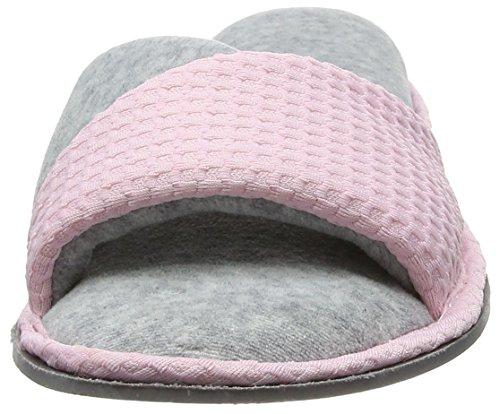 Dearfoams Damen Slide Pantoffeln Pink (Fresh Pink)