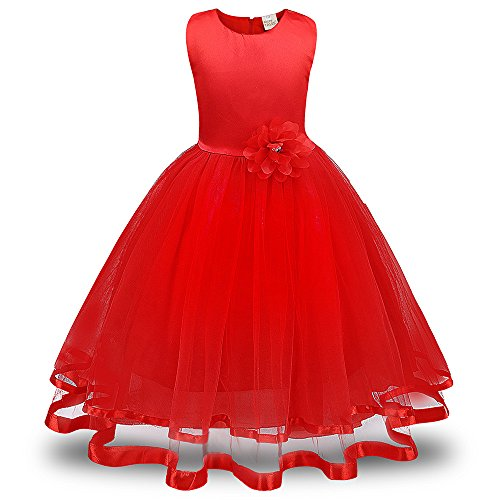 Girl Mermaid 9m Baby Dress Bed Skirts Old Prairie Winter Dress Dresses for Girls Size 10-12 1950s Baby Girl Skirt Frozen Purple Jean Skirts(Red,120)