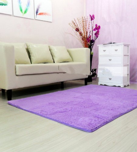 Super Soft Modern Shag Area Rugs  Bedroom Rug Washable Rugs