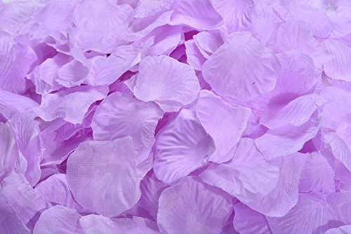 ocharzy 1000pcs Silk Rose Petals Wedding Flower Decoration (Light Purple)]()