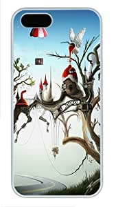 iPhone 5S Cases - Cases For iPhone 5S - iPhone 5S Cover Fairy Kingdom Parachute Cool PC White iPhone 5/5S Case Cover