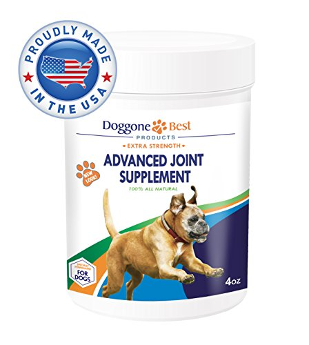 Glucosamine for Dogs - Chondroitin - MSM - Omega 3 & 6 - Best Joint Supplement Powder for Dogs - Arthritis Pain Relief - Increases Mobility & Reduces Inflammation Due To Hip Dyplasia - Made in the USA
