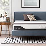 LUCID 2 inch Bamboo Charcoal Memory Foam Mattress Topper - California King