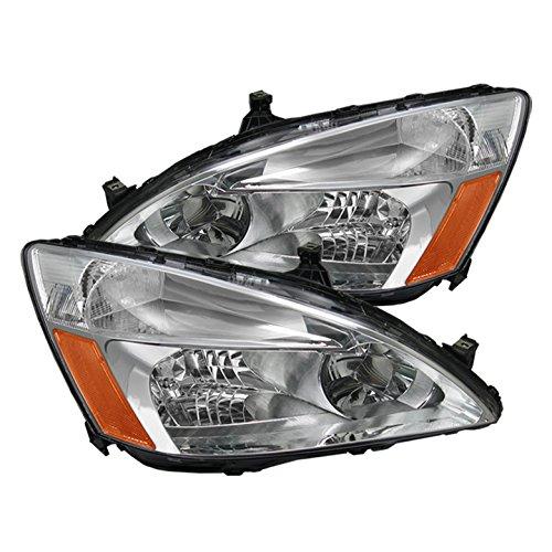 Honda Accord Amber Crystal Headlights - Chrome (Honda Accord Crystal Headlights)