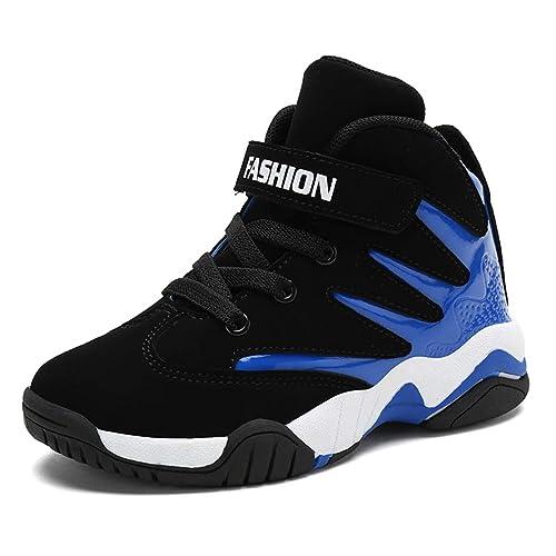 Zapatillas de Baloncesto para niños Zapatillas Deportivas Altas para Correr al Aire Libre para niños Moda Zapatillas de Deporte Casuales Negras: Amazon.es: ...