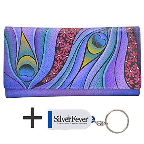 anna-by-anuschka-ladies-wallet-key-chain-checkbook-dreamy-peacock