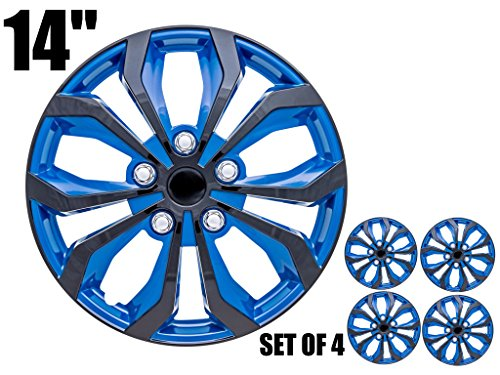 SPA Hubcaps for Standard Steel Wheels Wheel Covers (Snap On) (Pack of 4) (Fits 14