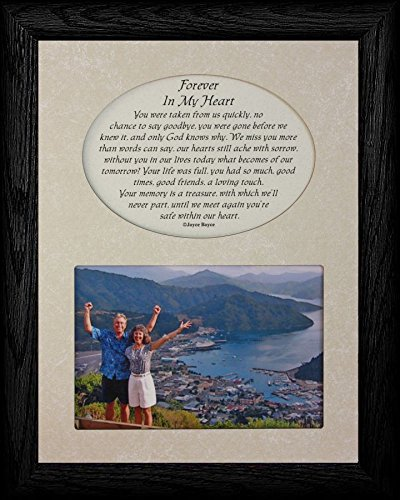 Amazon.com - FOREVER IN MY HEART Picture & Poetry Memorial ...