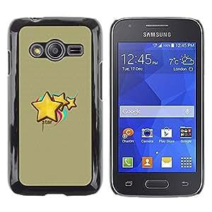 Caucho caso de Shell duro de la cubierta de accesorios de protección BY RAYDREAMMM - Samsung Galaxy Ace 4 - Cute Star