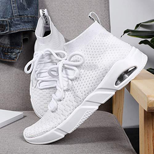 Lace Bianco Shoes Athletic Casual Dot Light Fashion Uomo Shoes Sport Jiameng Running Up Running z1xwRa1q