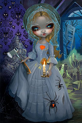 Disney WonderGround Haunted Mansion Return of The Bride Postcard by Jasmine Becket-Griffith