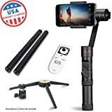 EVO SP-PRO Gen2 3 Axis iPhone Gimbal Stabilizer works with iOS & Android Smartphones, Advanced EVO Camera APP | 1 Year USA Warranty | Bundle Includes: EVO SP-Pro + Tripod Stand + Wireless Remote