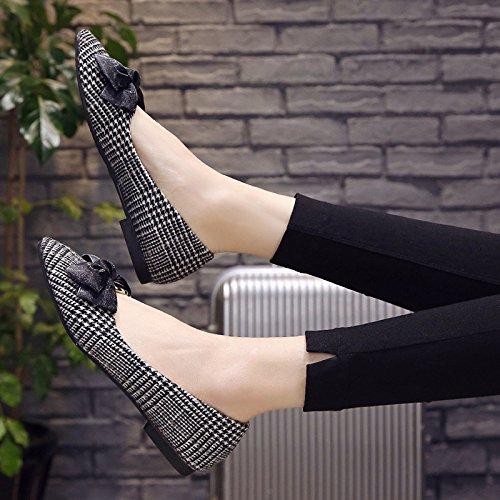 Negro Bajo Primavera Soja De Plana Calzado Zapatos Zapatos Pie Zapatos Mujer Que Zapatos Mujer Zapatos De GAOLIM De De Plano Pequeña Punta 17zwq6gq