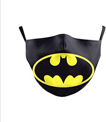 Marvel Kids Face Mask With Carbon Filter PM2.5 - Ultra-Comfortable, Reusable, Portable, Fold-able Lightweight (Batman)
