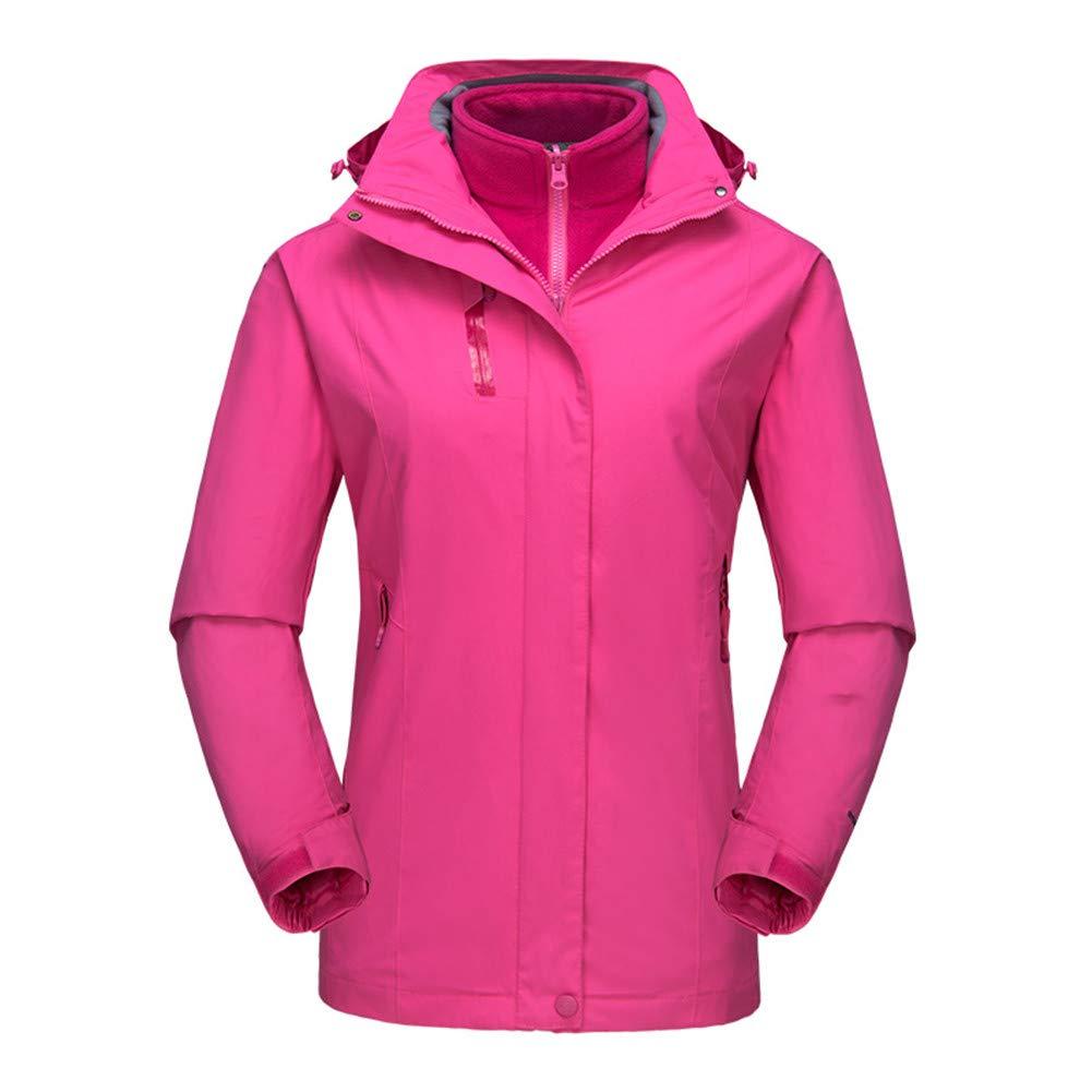 DoMii 3-in-1 Women's Fleece Moutain Waterproof Jacket Snow Outdoor Hooded Coat