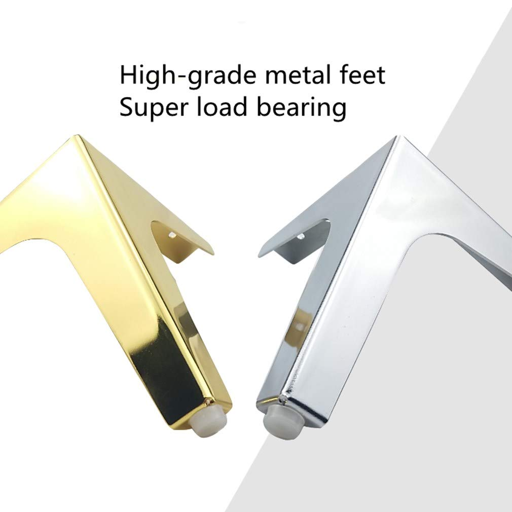 Desk Legs Bed Legs Kitchen Feet Trigeminal Legs Replacement Legs Coffee Table Legs Tv Table Legs Super Load Bearing 4 Pcs Metal Legs Iron Gold