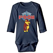 Doctor Who Winnie The Pooh Cute Toddle Long Sleeve Baby Bodysuit Set