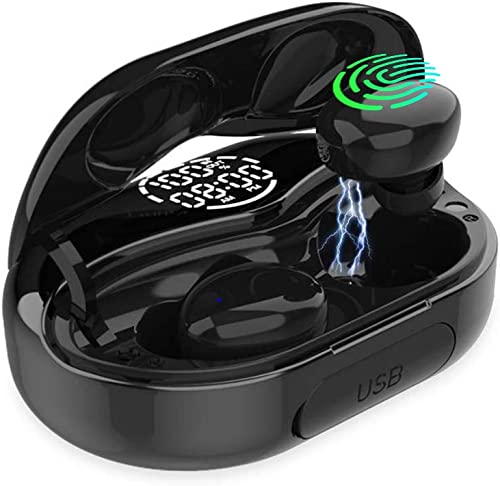 Wireless Earbuds Bluetooth Earbuds Bluetooth 5.0 Wireless Headphones in-Ear with Charging IPX8 Waterproof Deep Bass Noise Cancelling Technology Case for Sports,Gym