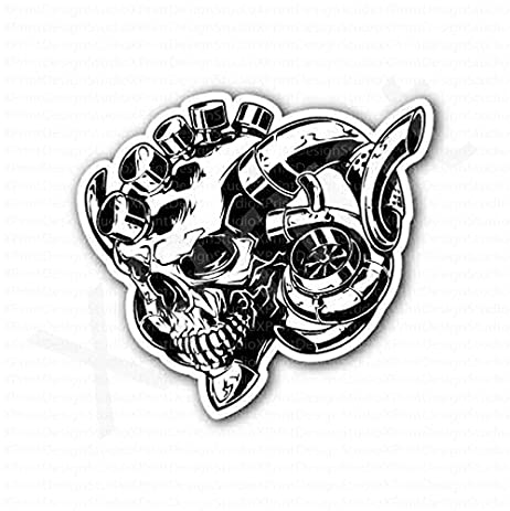 amazon com boosted skull racing sticker everything else