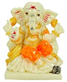 Decorative Religious Reading Lord Ganesha Statue Table Office Car Decor Figurine