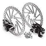 MTB MD-M280 NV-5 G2/HS1 Bike Disc Brake Set, Front and Rear Brake with 160mm G2 Rotor and Disc Screw