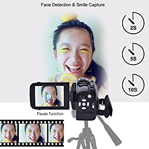 Camcorder Video Camera 24MP Digital Camera Full HD 1080p Vlogging Camera Support Microphone Camcorders Night Vision HDMI Output with Remote Controller