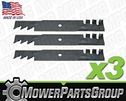 (3) Toothed Mulching Blades Replace Bad Boy 038-6050-00 038-6060-00 60