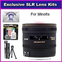 Sigma 4.5mm f/2.8 EX DC HSM Circular Fisheye Lens For Minolta Maxxum 5D 7D Includes 7 Year Warranty + Extras