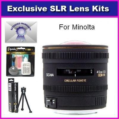 シグマ4.5 MM F / 2.8 EX DC HSM円形魚眼レンズレンズfor Minolta Maxxum 5d 7d Includes 7年保証+ Extras   B003V0WWLG