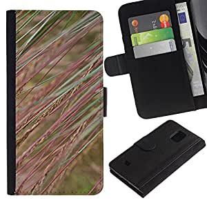 iKiki Tech / Cartera Funda Carcasa - Field Nature Grass Rye - Samsung Galaxy S5 Mini, SM-G800, NOT S5 REGULAR!