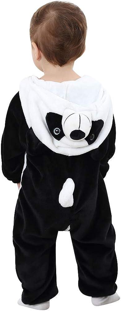 ANUFER Unisexe B/éb/é Encapuchonn/é Barboteuse Flanelle Mignonne Animale Combinaison Pyjamas 0-36 Mois