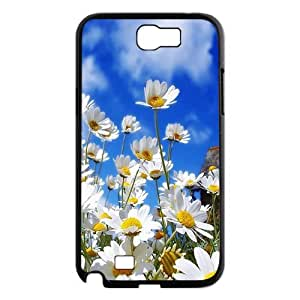 T-TGL(RQ) Customized Daisy Pattern Protective Cover Case for Samsung Galaxy Note 2 N7100