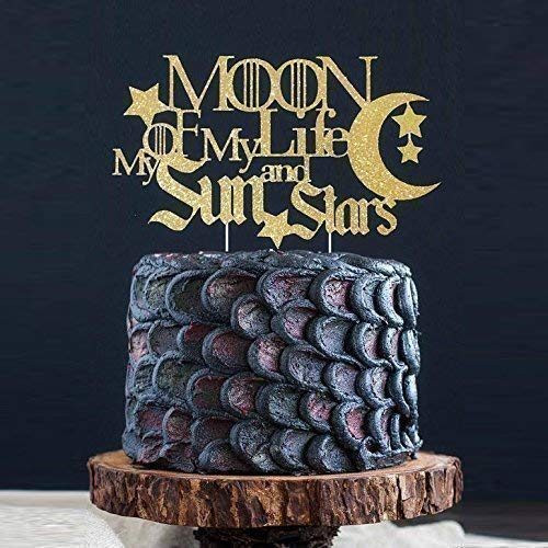 Moon of My Life My Sun and Stars Cake Topper, Gothic Cake Topper, Wedding Cake, Winter is Coming, GOT Party Toppers