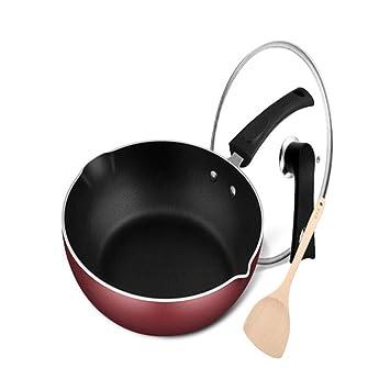 Bandeja, sartén antiadherente, sartén wok de 28 cm, sin humos, cocina estándar, cocina de inducción, estufa de gas, llama abierta, uso general: Amazon.es: ...