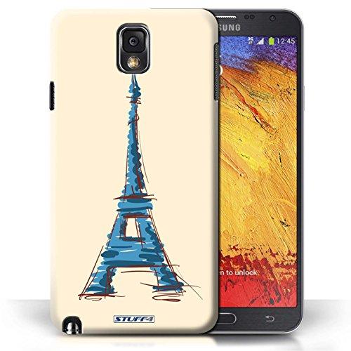 Etui / Coque pour Samsung Galaxy Note 3 / Tour Eiffel / Paris conception / Collection de Monuments