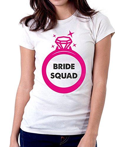 evento della taglie by tshirteria Bianco le regalo sposa Tshirt bride Addio nubilato squad squadra Tutte idea al 6qU68Y