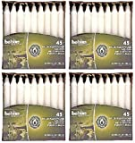 BOLSIUS Taper Candles 7 Hour Box of 45 White Household Candles (4 Pack)