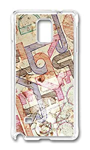 Samsung Note 4 Case,VUTTOO Cover With Photo: Letters Character Text Paper For Samsung Galaxy Note 4 / N9100 / Note4 - PC Transparent Hard Case