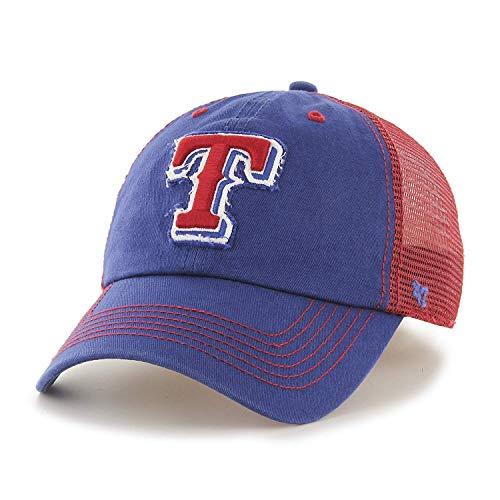 '47 MLB Texas Rangers Taylor Closer Mesh Stretch Fit Hat - Mesh Rangers