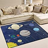 ALAZA Solar System with Sun Planets Area Rug Rugs Mat for Living Room Bedroom 7'x5'