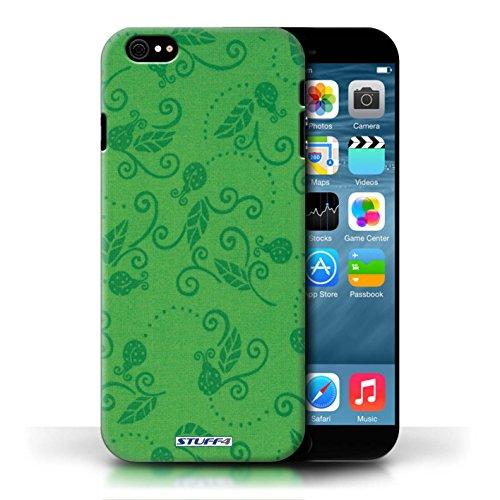 Etui / Coque pour Apple iPhone 6/6S / Vert conception / Collection de Motif Coccinelle