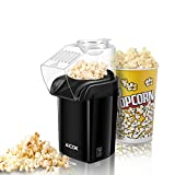 : Aicok Popcorn Maker, Popcorn Machine, Hot Air Popcorn Popper No Oil Needed, With Wide Mouth Design and 1200W Power, Includes Measuring Cup and Removable Lid, FDA Approved and BPA-Free