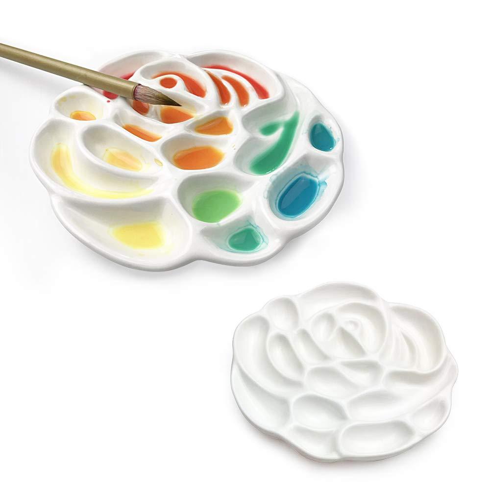 Ceramic/Porcelain/Like,/Break/&nbs Mifuner/Artist/Watercolor/Paint/Palette/Mixing/Tray,/ukiyoe/Wave/Pallet/Plate/for/Oil/Acrylic/Watercolor/Gouache/Painting/