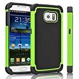 Galaxy S6 Case, Tinysaturn(TM) [Ysaturn Series] Absorption Rugged Heavy Duty Defender Anti-Slip Scratches Resistance Rubber Silicone Slim Case Cover For Samsung Galaxy S6 S VI G9200 [Green/Black] Review