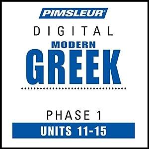 Greek (Modern) Phase 1, Unit 11-15 Audiobook