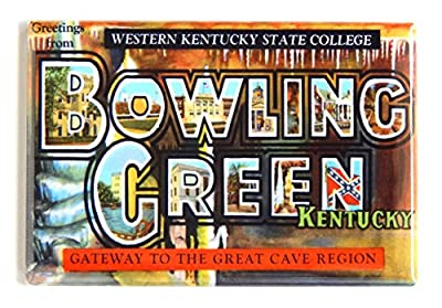 Greetings From Bowling Green Kentucky Fridge Magnet (2 x 3 inches)